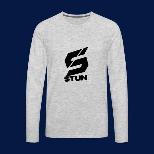 Stun Logo with text - Men's Premium Long Sleeve T-Shirt