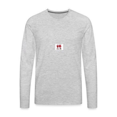 love heart talk - Men's Premium Long Sleeve T-Shirt