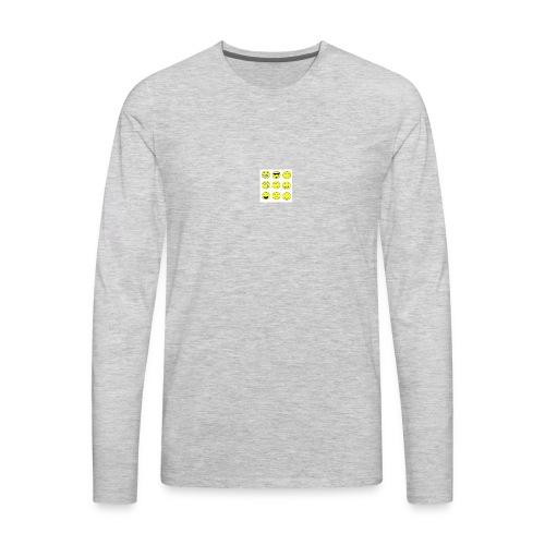 happy faces - Men's Premium Long Sleeve T-Shirt