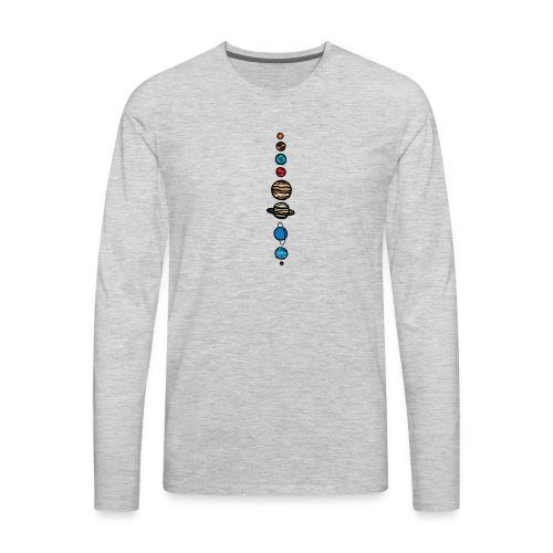 Planets Colour - Men's Premium Long Sleeve T-Shirt