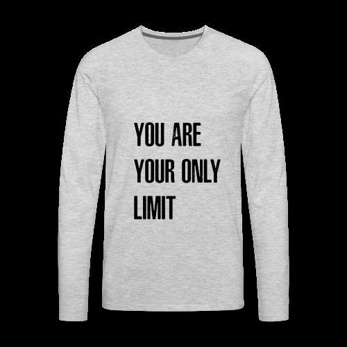 Limit Black - Men's Premium Long Sleeve T-Shirt