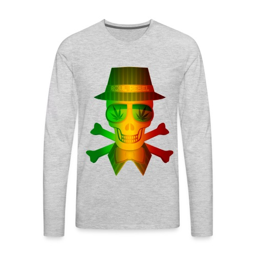 Rasta Man Rebel - Men's Premium Long Sleeve T-Shirt