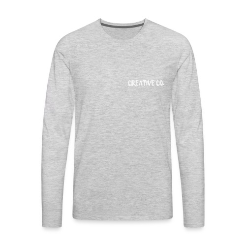Creative Co Front Logo White - Men's Premium Long Sleeve T-Shirt