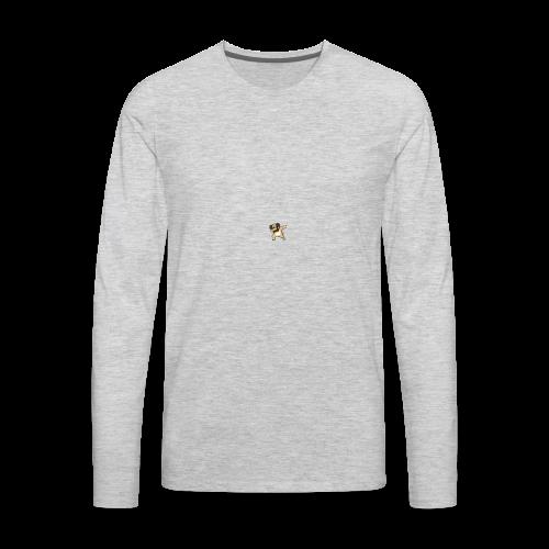 dog dab - Men's Premium Long Sleeve T-Shirt