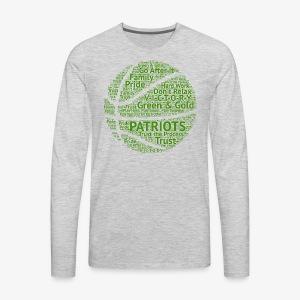 Pats Basketball Green - Men's Premium Long Sleeve T-Shirt