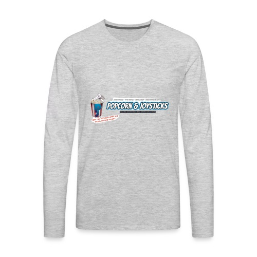 Popcorn and Joysticks Banner - Men's Premium Long Sleeve T-Shirt