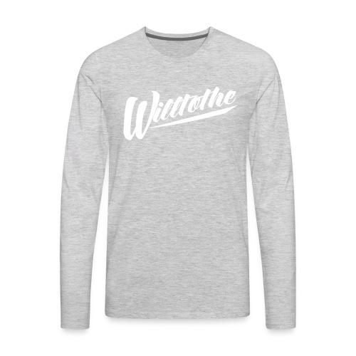 Willtothe Logo White - Men's Premium Long Sleeve T-Shirt
