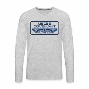 USCSS Covenant with border - Men's Premium Long Sleeve T-Shirt