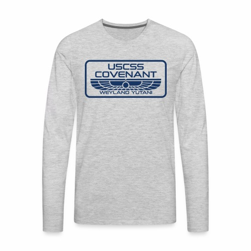 USCSS Covenant with border - Men's Premium Long Sleeve T-Shirt