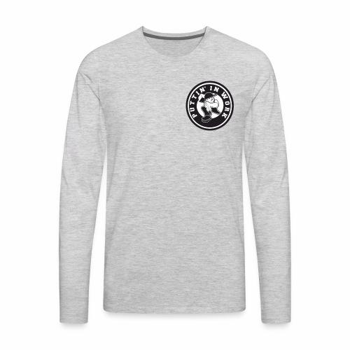 Solid Puttin' In Work Logo - Men's Premium Long Sleeve T-Shirt
