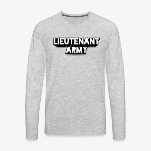 Lieutenant Army Logo - Men's Premium Long Sleeve T-Shirt