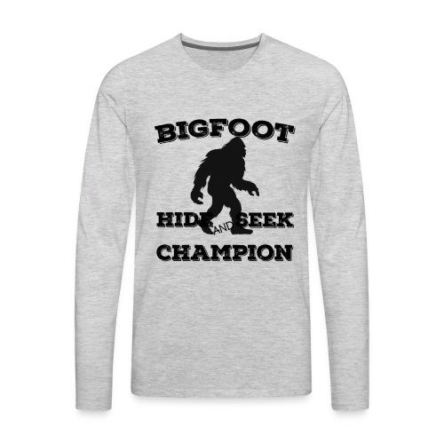 Bigfoot Hide and Seek Champin Undefeated Yeti Fans - Men's Premium Long Sleeve T-Shirt