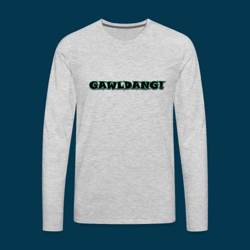 GAWLDANG (Black) - Men's Premium Long Sleeve T-Shirt