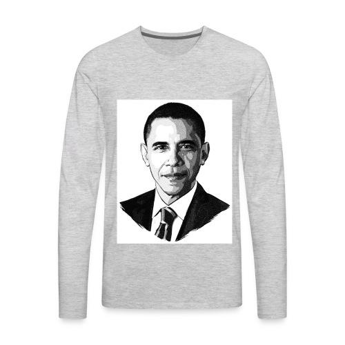 Cool Obama T-shirt - Men's Premium Long Sleeve T-Shirt