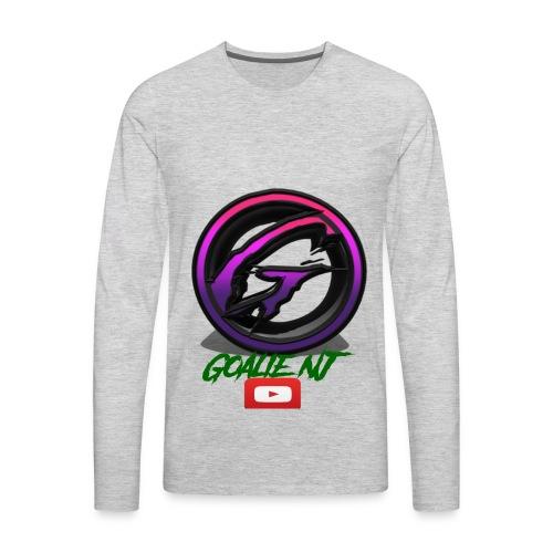 goalie nj logo - Men's Premium Long Sleeve T-Shirt