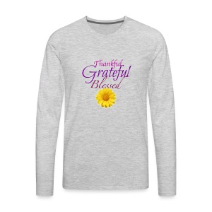 Thankful grateful blessed - Men's Premium Long Sleeve T-Shirt