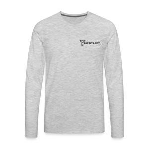 Barbell Inc Stickman (Grey) - Men's Premium Long Sleeve T-Shirt