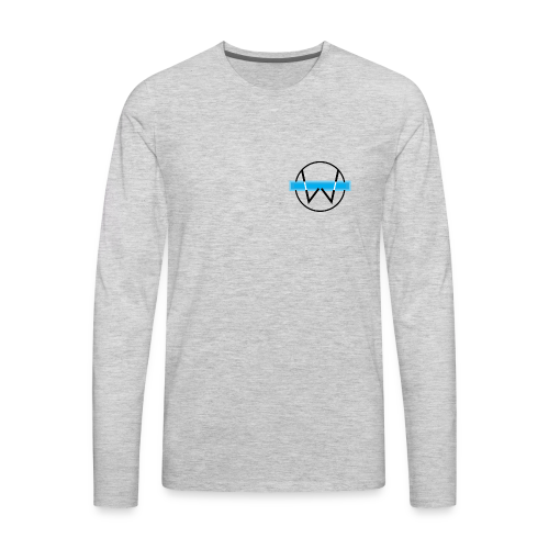 Lil White Logo - Men's Premium Long Sleeve T-Shirt