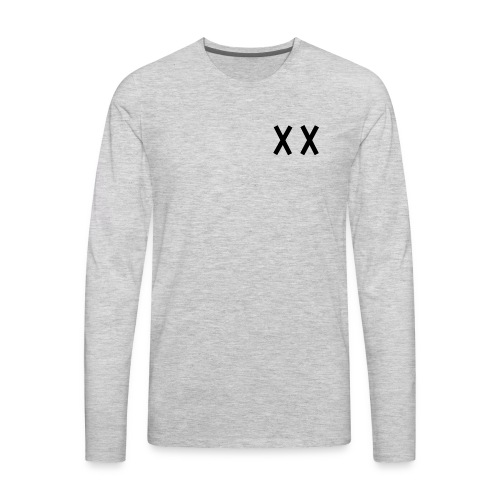 MKI Black Logo with Grey/White - Men's Premium Long Sleeve T-Shirt