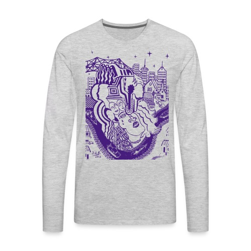 Purple Louisiana River - Men's Premium Long Sleeve T-Shirt