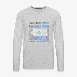 Nicaragua 2018 Flag - Men's Premium Long Sleeve T-Shirt