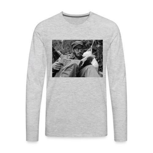 Viva Fidel ~ Book - Men's Premium Long Sleeve T-Shirt