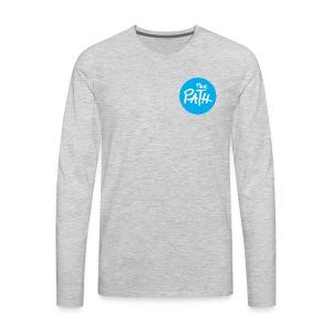 The Path Circle Logo In Blue - Men's Premium Long Sleeve T-Shirt