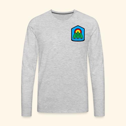blue background - Men's Premium Long Sleeve T-Shirt
