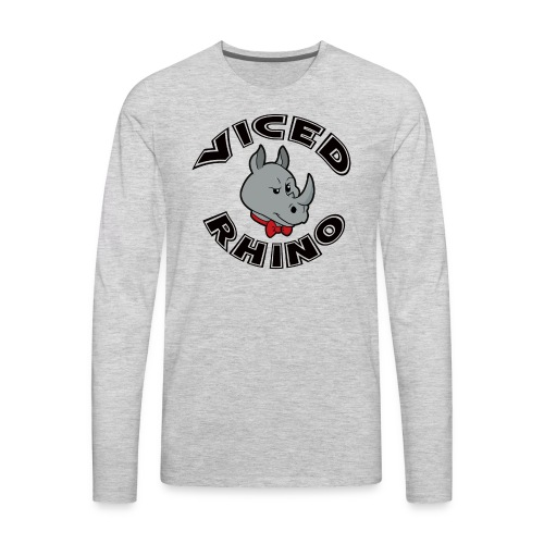 Viced Rhino Logo - Men's Premium Long Sleeve T-Shirt
