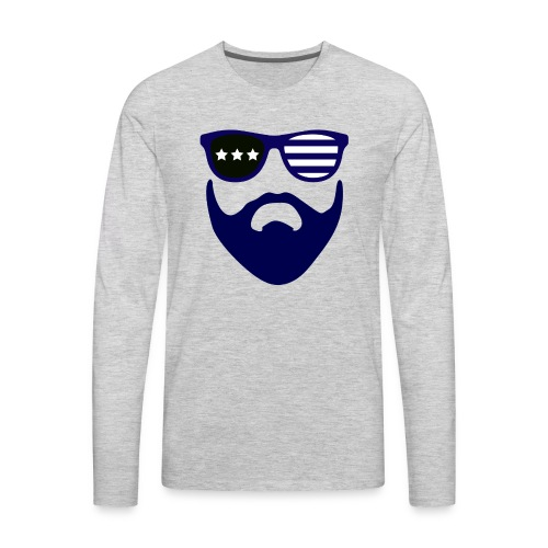 Blue beard-beard gang - Men's Premium Long Sleeve T-Shirt