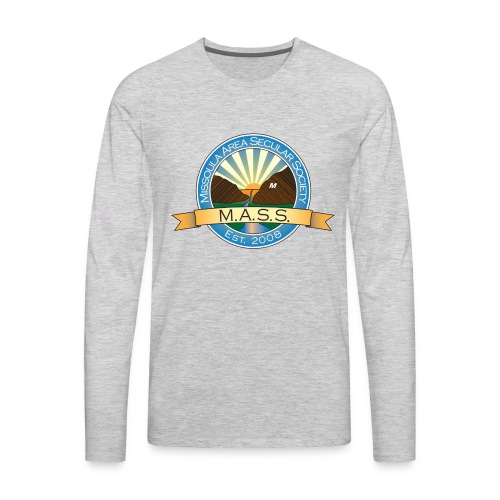 Missoula Area Secular Society Logo - Men's Premium Long Sleeve T-Shirt