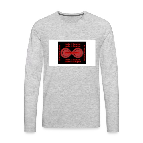 The Make It Happen Design | CreateMeInfinity - Men's Premium Long Sleeve T-Shirt