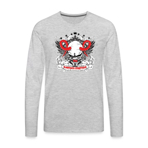 Bloodtooth Devil Skull - Men's Premium Long Sleeve T-Shirt