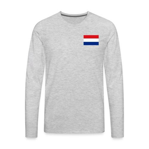 Dutch Flag - Men's Premium Long Sleeve T-Shirt