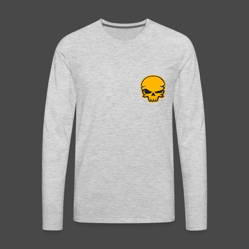 Gold Black Logo - Men's Premium Long Sleeve T-Shirt