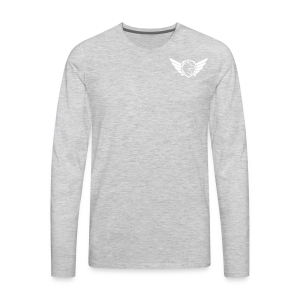 White Pocket Logo - Men's Premium Long Sleeve T-Shirt