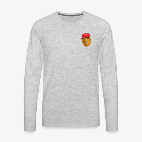 maga potato logo - Men's Premium Long Sleeve T-Shirt