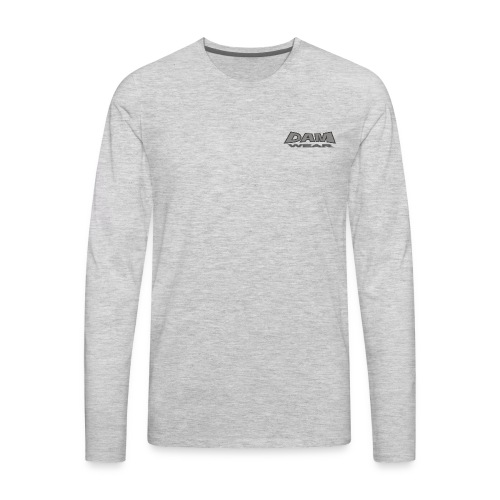 BIG DAM GREY BLACK TEXT 4X4 - Men's Premium Long Sleeve T-Shirt