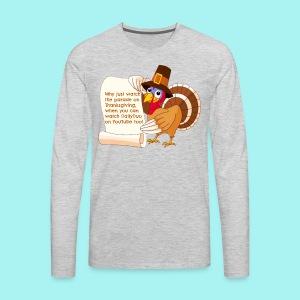 Thanksgiving Turkey - Men's Premium Long Sleeve T-Shirt