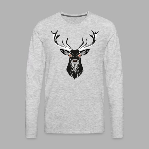 Evil Stag - Men's Premium Long Sleeve T-Shirt