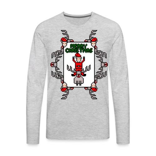 Merry Christmas Santa and Rudolph - Men's Premium Long Sleeve T-Shirt