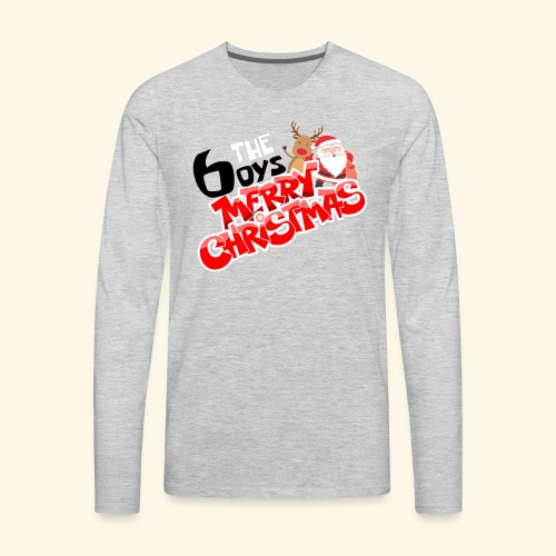The 6oys Christmas Edition - Men's Premium Long Sleeve T-Shirt