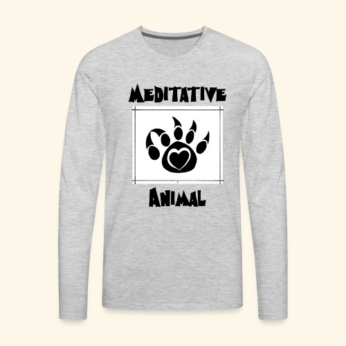 Paw Logo with Text and transparency - Men's Premium Long Sleeve T-Shirt