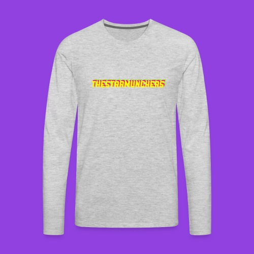 TheStarMunchers Logo - Men's Premium Long Sleeve T-Shirt