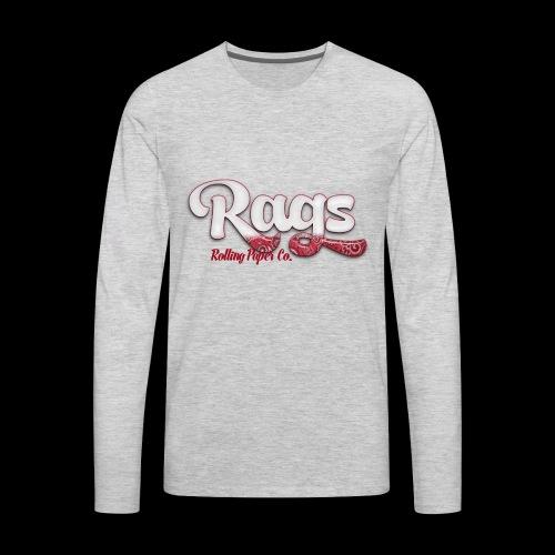 RAGSROLLINGLOGORED - Men's Premium Long Sleeve T-Shirt