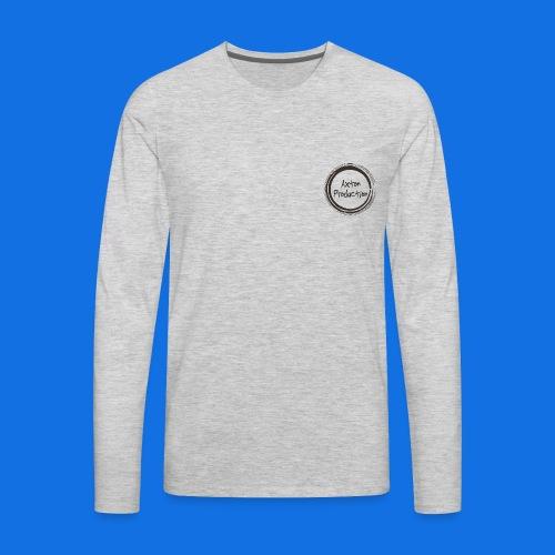 AxtonProduction Official logo design - Men's Premium Long Sleeve T-Shirt