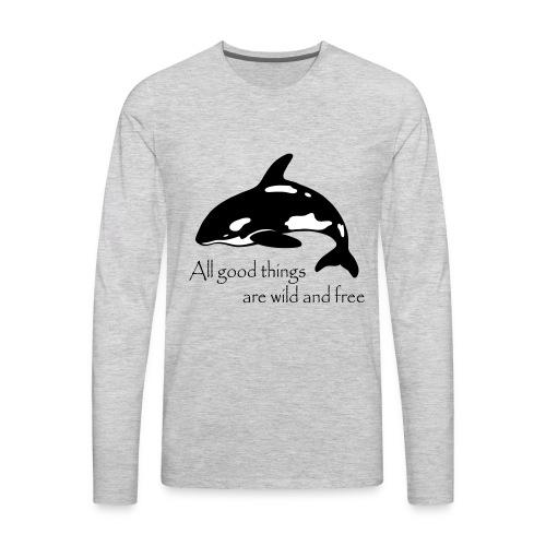 End Captivity - Men's Premium Long Sleeve T-Shirt