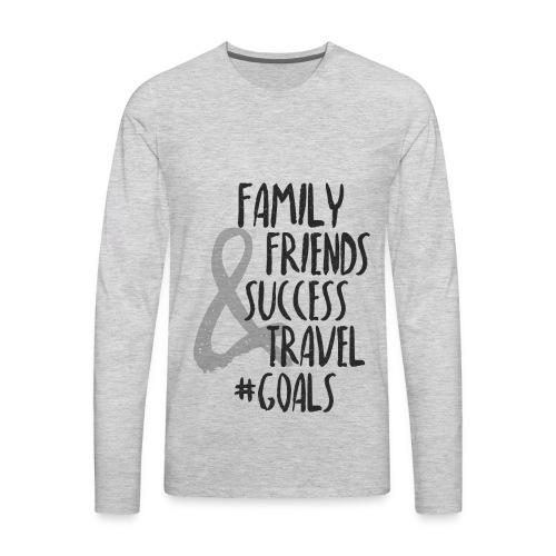 Life Goals - Men's Premium Long Sleeve T-Shirt