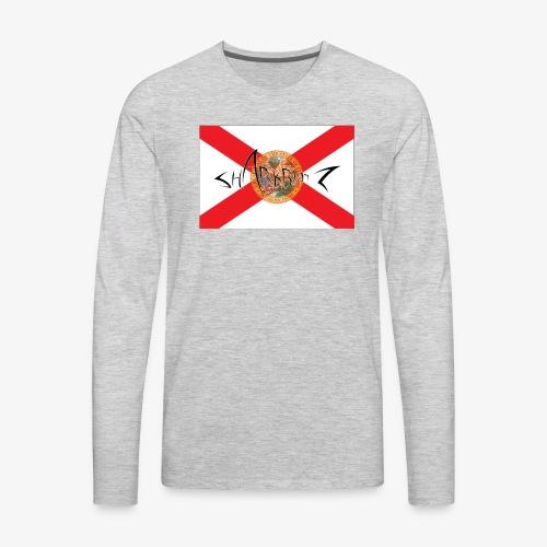 Sharkbaitz Flordia Flag - Men's Premium Long Sleeve T-Shirt