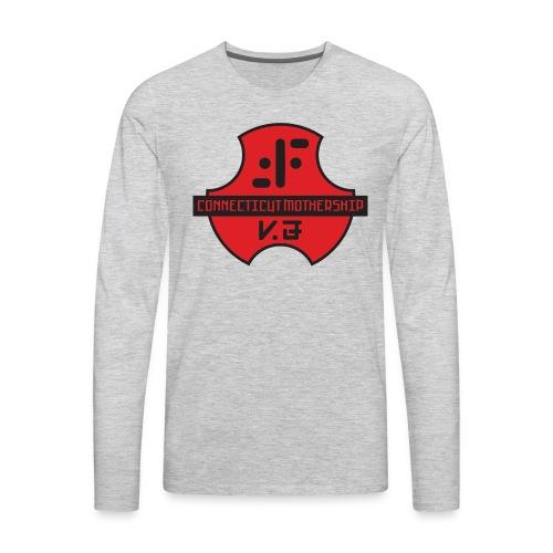 CTV logo6 outlines - Men's Premium Long Sleeve T-Shirt
